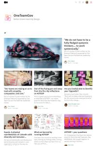 A screenshot of the One Team Gov Medium publication